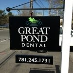 cutsom hanging exterior carved sign dental signage burlington boston wakefield ma