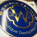 dimensional custom dental business sign cambridge boston ma architectural signage