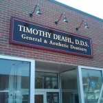 architectursl signage sign design gold dentist signage carved sign business signage cambridge ma boston burlington