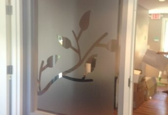 boston window graphics office signage etched glass graphic