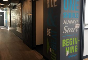 gym wall graphics indoor cycling massachusetts wall mural sign projects wall signs for business