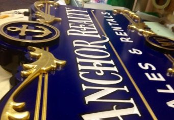 custom gold sign cape cod marthas vineyard custom carved sign cambridge ma sign gold business sign dimensional signage boston hanging signage