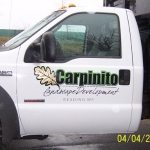 landscaping truck lettering reading ma