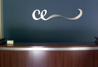 interior sign metal wall logo lexington ma boston salon sign