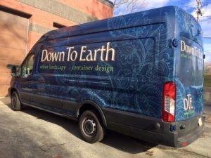 sprinter wrap wrap design vinyl vehicle wrap van wrap boston burlington ma landscape lettering