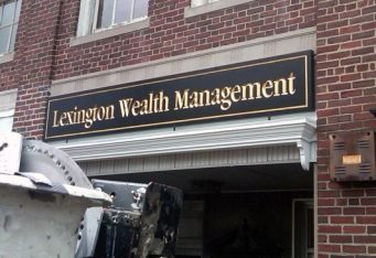 carved gold exterior business signage outdoor wall sign bostonlexington ma