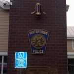 exterior police sign watertown ma boston ma municipal signage