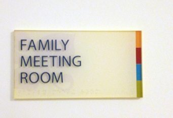 wayfinding braille signs room id signs lexington ma