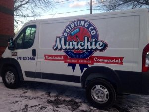 custom logo design truck lettering partial vehicle wrap burlington ma boston