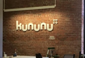 wall logo kununu interior sign boston business signage